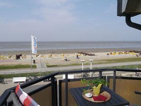 Bild: Der Balkon der Ferienwohnung Nr. 28 in der Meersbrandung