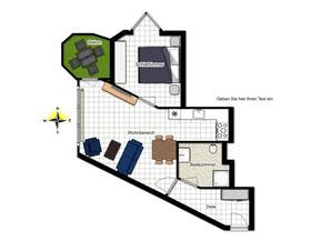 Bild: Grundriss der Ferienwohnung Nr.28