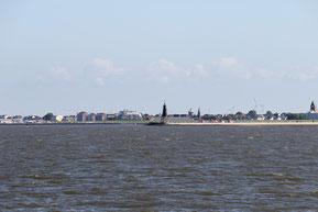 Bild: Döse vom Weltschifffahrtsweg aus betrachtet