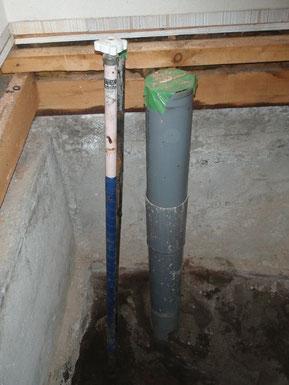 取替前のハンドル式水抜栓