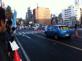 駅伝の季節ですね〜この日最高の寒さの中での全日本実業団女子駅伝〜見えますか?トップランナー!駅伝選手に声援を送って、その姿から元気もらってます!!