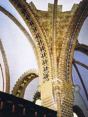 Reste alter Gewölbebemalung