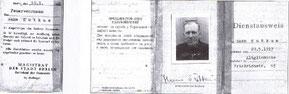 Feuerwehrausweis aus dem Jahre 1947 von Hans Sutkus