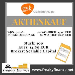 freaky finance, GSK, GlaxoSmithKline, Aktie, Kaufbeleg, Zahlen, Daten