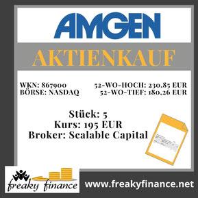freaky finance, Amgen, Aktie, Kaufbeleg, Zahlen, Daten