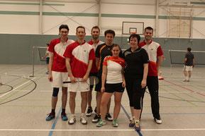 3.Mannschaft v.l.: Manuel Hoppe, Jan Startmann, Daniel Fleisch, Tobias Tacken, Debbie Böhm, Melanie Vaßbeck, und Daniel Hoppe