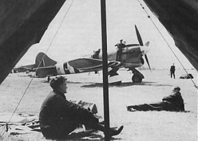 A 3 Squadron Tempest V at dispersal at Newchurch in 1944.