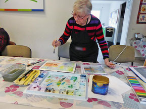 Atelier peinture artistique le 15-03-18
