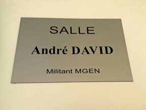 Inauguration salle André David