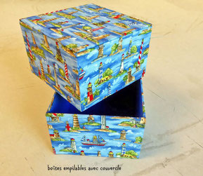 Boîtes empilables