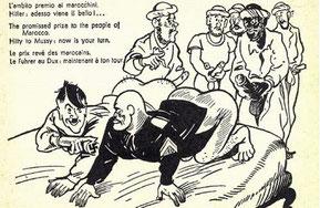 Propaganda anti o pro colonialista, dipende dai punti di vista.