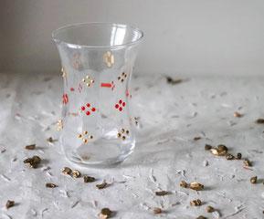 verres à thé, verres, thé, berbère, coloré, déco, petit, motifs