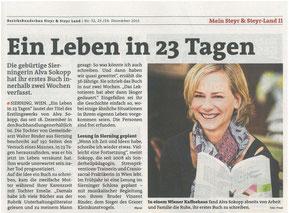 Artikel Bezirksrundschau Steyr