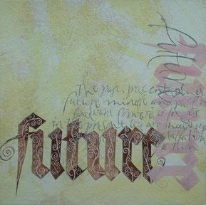 Kalligraphische Schriften mit Schnörkeln Stuttgart