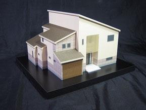 1/72の色付の住宅模型の画像