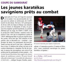 LA FEUILLE juin 2014 Karaté