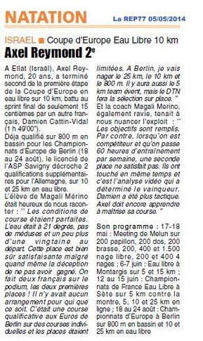 LA REP 05/05/2014 Natation