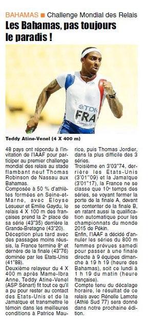 LA  REP 26/05/2014 Athlétisme