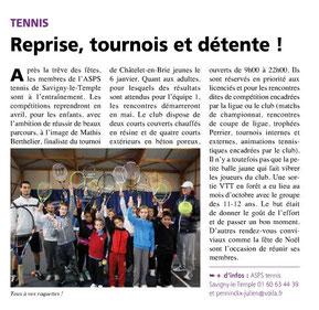 LA FEUILLE février 2014 tennis