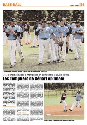 LA REP 18/08/2014 : BASEBALL
