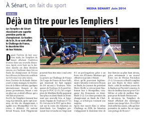 MEDIA SENART Juin 2014 Baseball