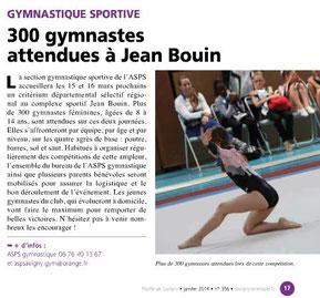 LA FEUILLE Janvier 2014 Gym Sportive