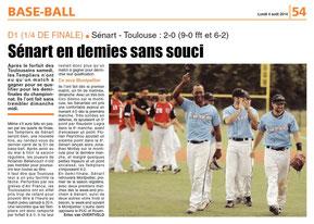 LA REP 04/08/2014 : Baseball