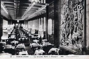 Salle à manger du Paquebot NORMANDIE