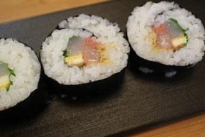 巻き寿司に糠甘えびを入れると深い味わい