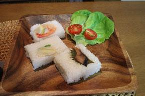 えびやばい貝を押し寿司にしてみました