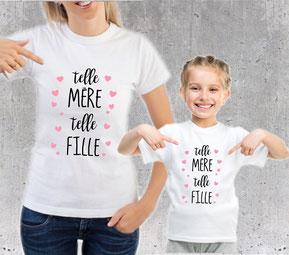 tshirt mère et fille