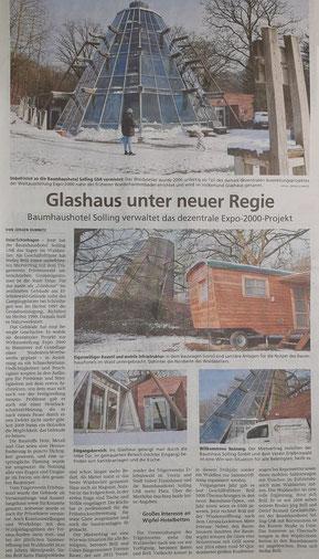 Zeitungsbericht Baumhaushotel Solling