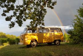 VW T2 Bulli Vermietung, Bulli für Event mieten