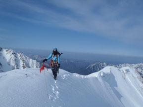 蒲田富士の稜線