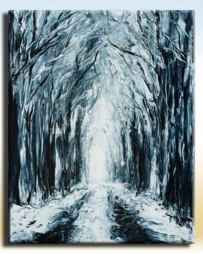 Reincarnated Forest Acrylic on canvas,40x50cm, 12-2018