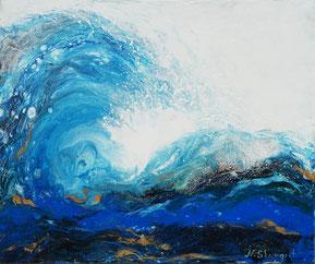 Wave acrylic on canvas, 38X46cm, 05-2018