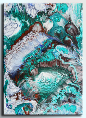 Abstract art #006 Rising Spirit Acrylic on canvas 54x73cm, 06-2018