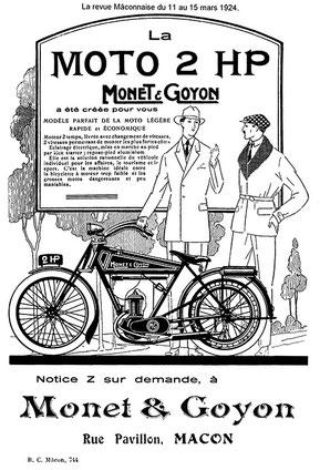 Publicité pour la 2HP de 1924