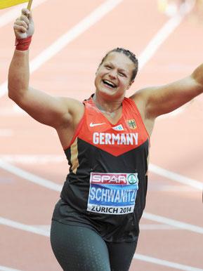 Christina Schwanitz, Europameisterin, Kugelstoßen