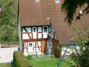Rückwärtige Ansicht des früheren Hauses Rosenstock Foto: Peter Schaaf, Buchenau