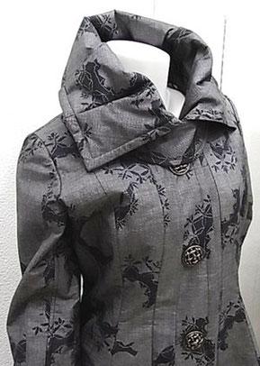 本場大島紬の着物からリメイク