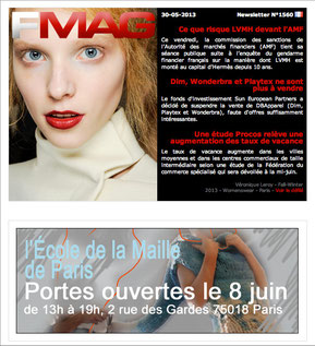 News letter Fashionmag