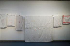 installation, art textile, manufacture des flandres, laura gourmel, broderie