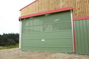 Portes lectriques agricoles pour hangar et stabulation for Porte hangar coulissante