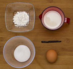 Zutaten für die Vanillecrème