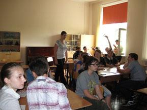 """Игра """"Интеллект"""". Участники игры, учащиеся 8""""Б"""" (неделя истории искусств,  май 2013 г.)"""