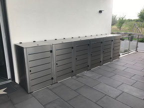 Mülltonnenbox Eleganza in Edelstahloptik