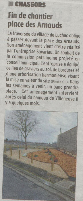 Article Charente Libre du 09-02-2017
