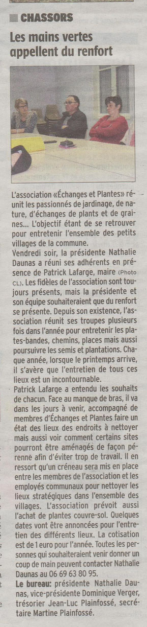 ARTICLE CHARENTE  LIBRE