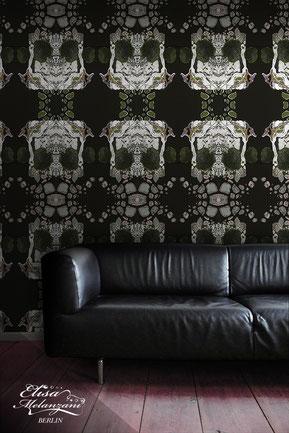 luxurious wallpaper skull © ELISA MELANZANI BERLIN